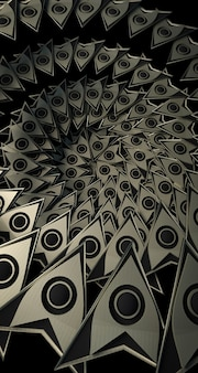 3d-rendering von pfeilförmigen mustern