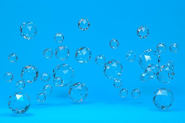3d-rendering von transparenten kristallen