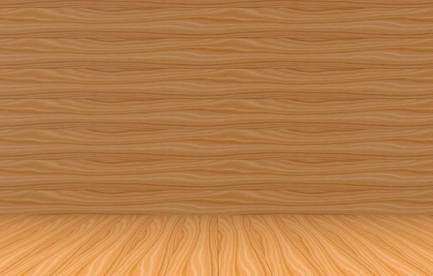 3d-rendering. wand- und bodenhintergrund der braunen täfelungen für irgendeine designbeschaffenheit.