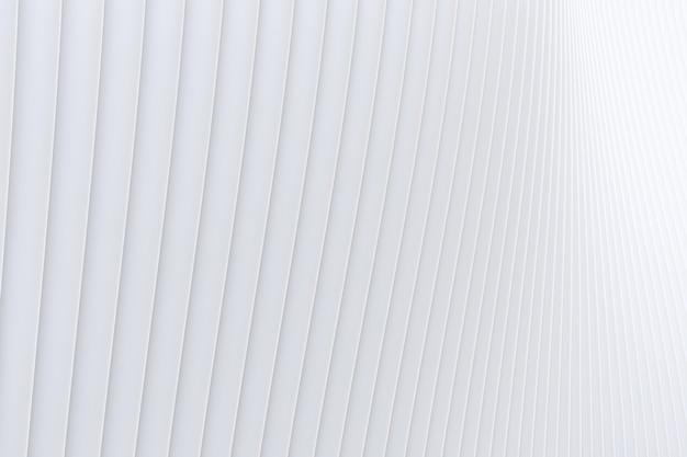 3d-rendering, weißer hintergrund der abstrakten wandwellenarchitektur, weißer hintergrund für präsentation, portfolio, website