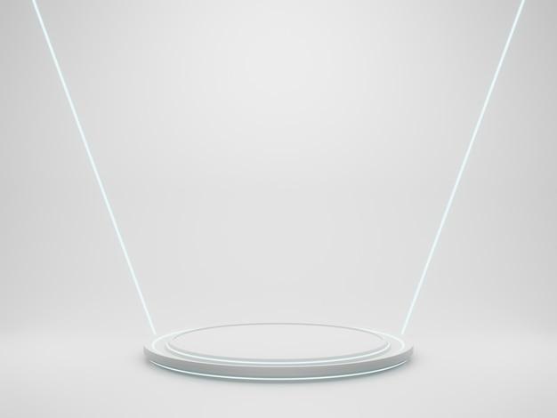 3d-rendering white sci fi produktständer