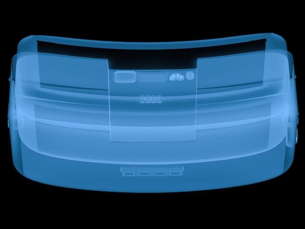 3d-rendering x-ray-vr-headset isoliert auf schwarz