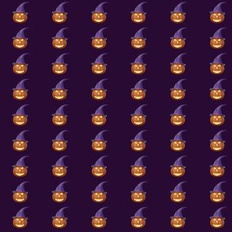 3d-renderinghalloween-kürbisse in einem gruseligen wald bei nacht