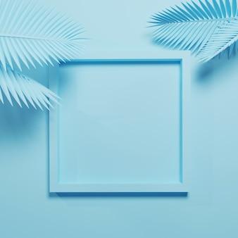 3d rendern chaotische komposition mit geometrischen elementen. abstrakte pastellfarbe mit kopierraum für social-media-banner und werbung.