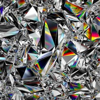 3d rendern des abstrakten kristallhintergrundes