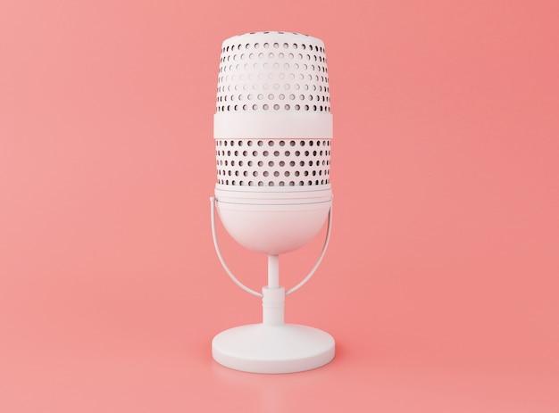 3d retro ein mikrofon
