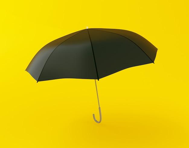 3d schwarzen regenschirm