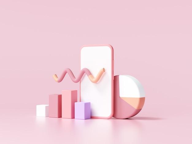 3d seo optimierung, aktienhandel, datenanalyse und seo marketing konzept