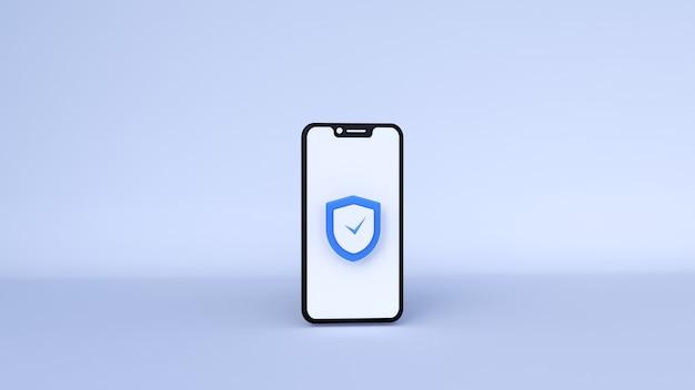 3d-sicherheitssymbol eine 3d-illustration