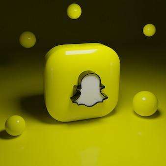 3d-snapchat-logo-anwendung