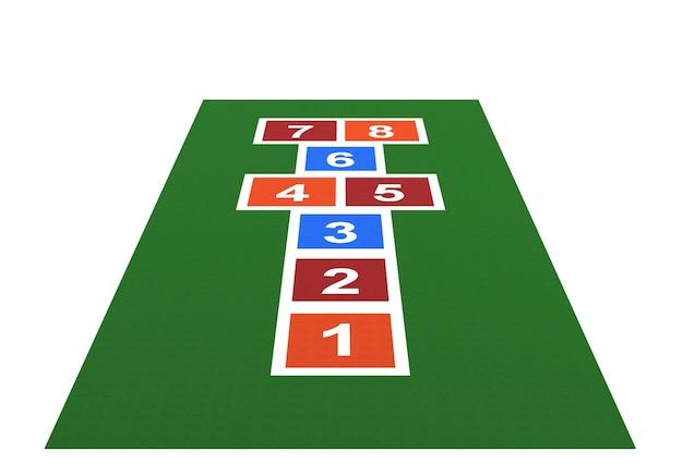3d-spielplatz-gummi-spielplatz-gummi für kinder mit weißem hintergrund