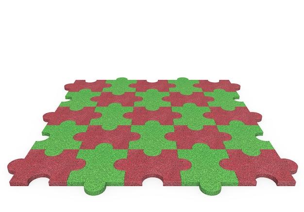 3d-spielplatz-gummi-spielplatz-puzzle-gummi für kinder mit weißem hintergrund