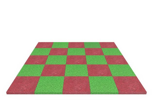 3d-spielplatz-gummi-spielplatz-quadrat-gummi für kinder mit weißem hintergrund