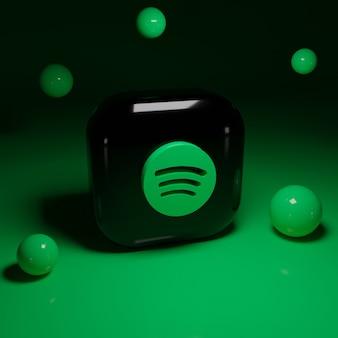 3d spotify logo anwendung