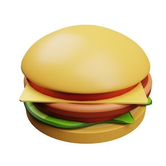 3d-symbole zäher und leckerer burger
