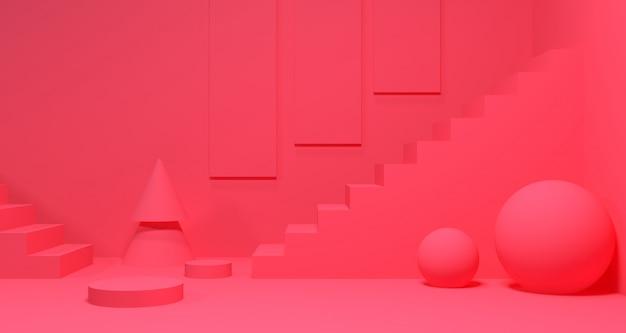 3d tiefe und realismus hintergrund. 3d-rendering.