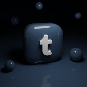 3d tumblr logo anwendung