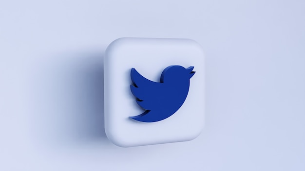 3d-twitter-logo-konzept-rendering isoliert