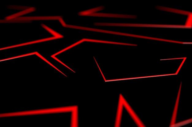 3d übertragen abstrakten schwarzen metallischen rahmen, moderne technologie-designschablone des plans