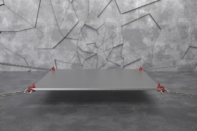 3d übertragen leeres podium des abstrakten hintergrundes, sockel, szene