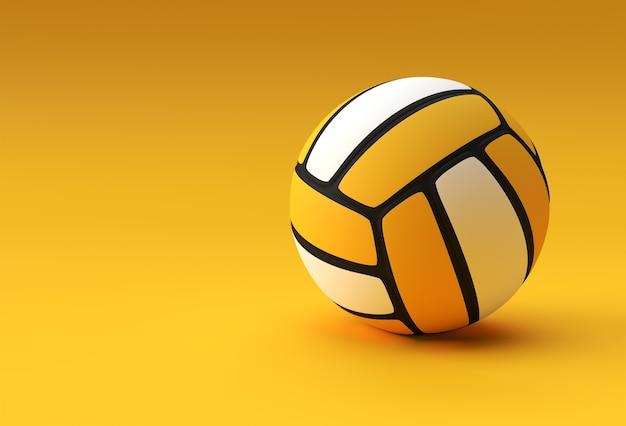 3d übertragen volleyball-illustration eines volleyball-/gelb-volleyballs.