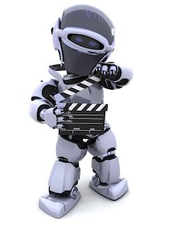 3d übertragen von einem roboter mit clapper board