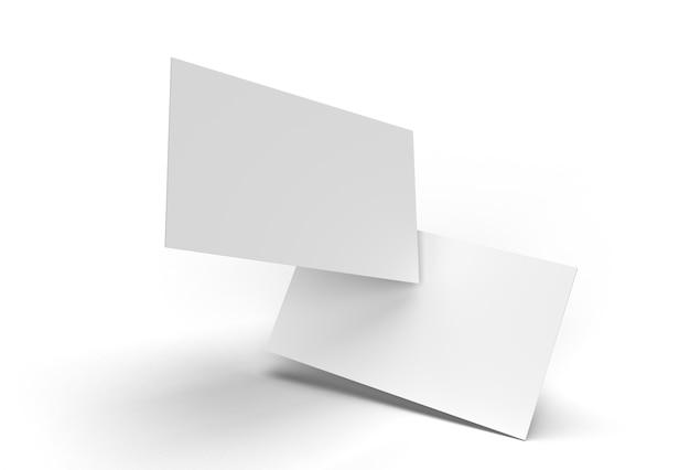 3d übertrug stapel-visitenkarten-modell-design.