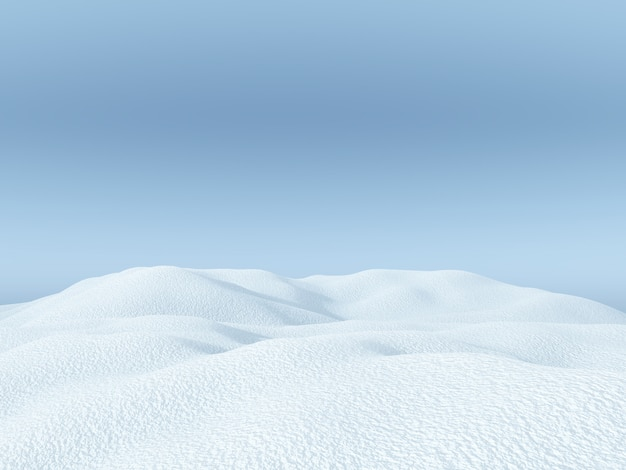 3d verschneite landschaft