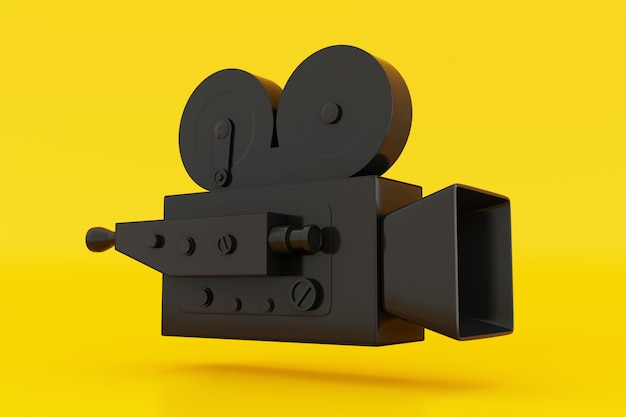 3d vintage filmkamera.