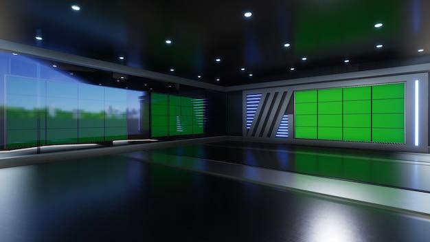 3d virtual tv studio news mit greenscreen 3d rendering