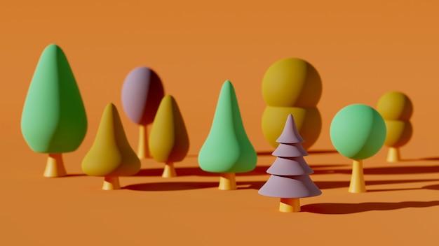 3d-waldillustration des waldes