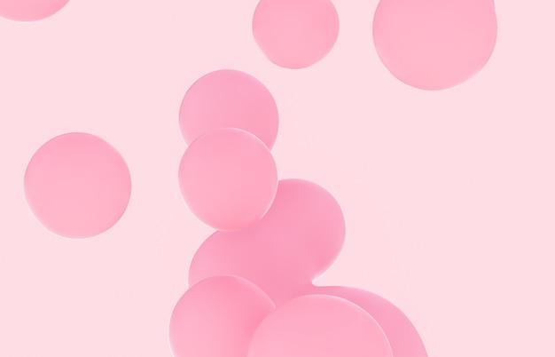 3d weicher rosa farbverlauf kugeln hintergrund