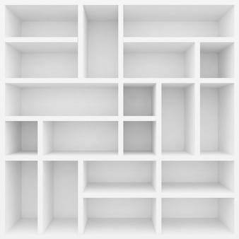 3d weiße regale für vitrine