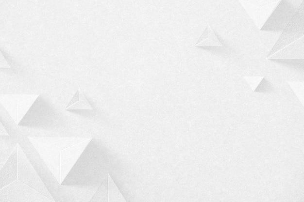 3d-weißer papierhandwerk-tetraeder-gemusterter hintergrund