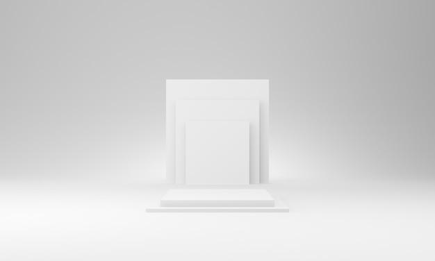 3d weißes geometrisches bühnenmodell