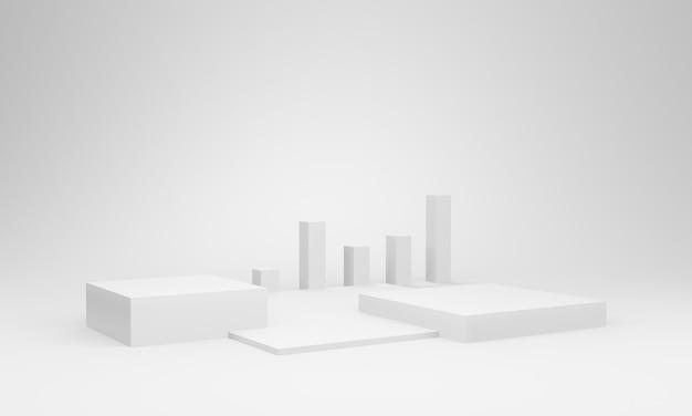 3d white box bühnenmodell