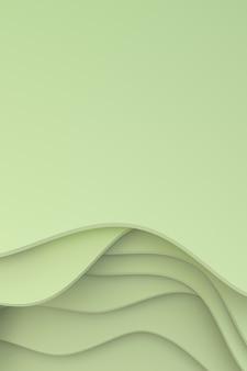 3d-wiedergabe, abstrakter papierschnittkunsthintergrundentwurf für plakatschablone, abstrakter hintergrund des musters