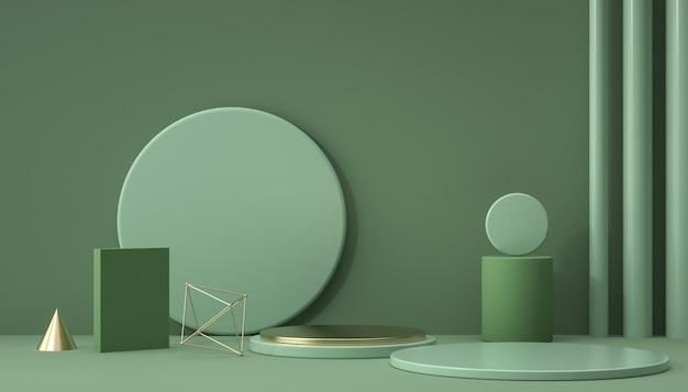 3d-wiedergabe der abstrakten hintergrundszene für produktanzeige