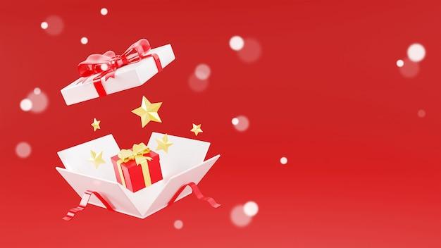 3d-wiedergabe der weißen geschenkbox