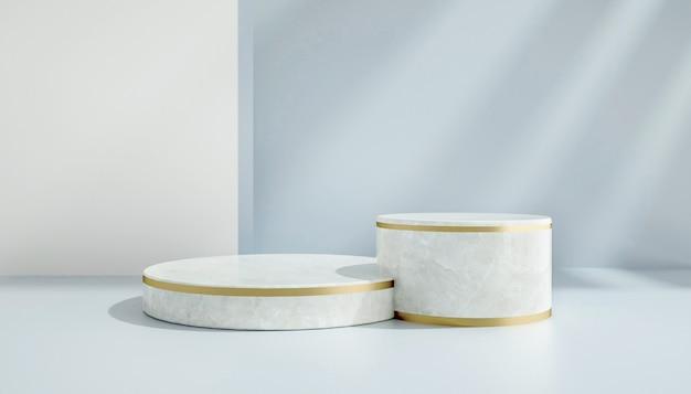 3d-wiedergabe des abstrakten kreisförmigen podiums für produktanzeige