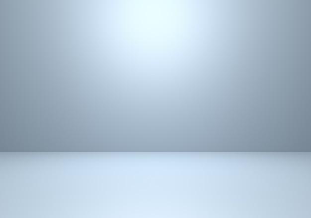 3d-wiedergabe des abstrakten minimalen konzepts des leeren grauen und silbernen