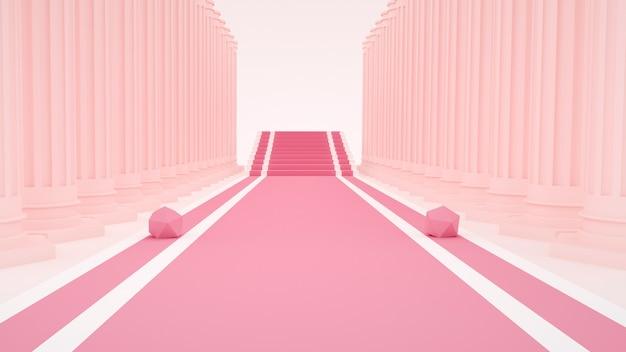 3d-wiedergabe des abstrakten rosa hintergrunds