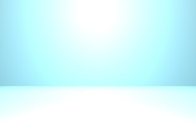 3d-wiedergabe des leeren blauen abstrakten winterkonzepthintergrunds