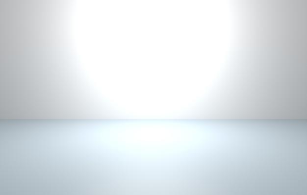 3d-wiedergabe des leeren grauen abstrakten minimalen konzepthintergrunds