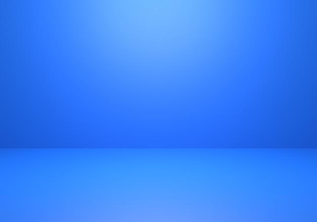 3d-wiedergabe des leeren klassischen blauen abstrakten minimalen konzepthintergrunds