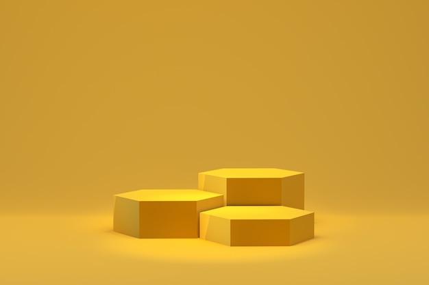 3d wiedergabe, minimaler abstrakter hintergrund des podiums für kosmetische produktdarstellung, abstrakte geometrische form