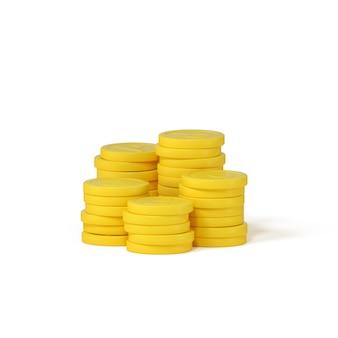 3d-wiedergabe von stapel von münzen