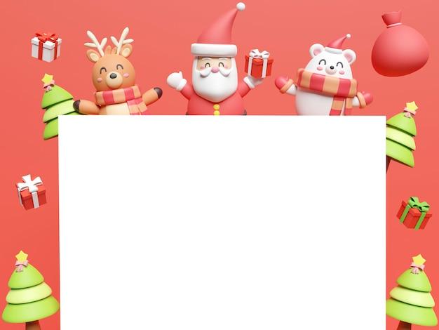 3d-wiedergabe von weihnachtsdekorationen