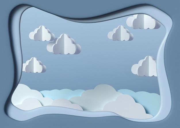 3d-wolkenmodellanordnung Premium Fotos