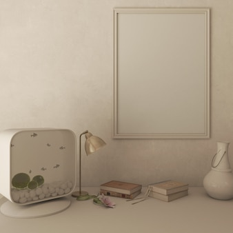 3d zeitgenössisches wohnzimmer interieur und moderne möbel